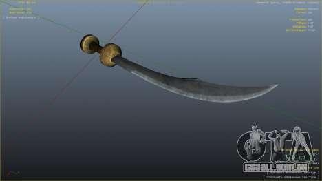 GTA 5 Cimitarra de Skyrim sexta imagem de tela