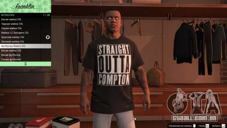 GTA 5 Franklin Hip Hop T-Shirts sétima screenshot
