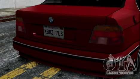 BMW M5 E39 SA Style para GTA San Andreas vista direita