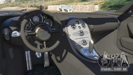 GTA 5 Bugatti Veyron Grand Sport v4.1 traseira direita vista lateral