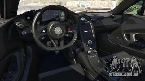 GTA 5 McLaren P1 2014 v1.2 traseira direita vista lateral
