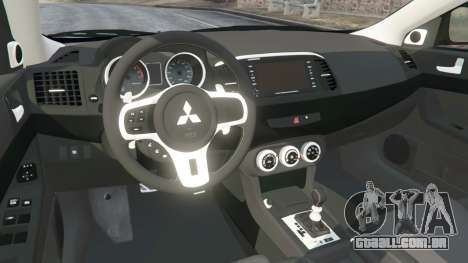 GTA 5 Mitsubishi Lancer Evolution X vista lateral direita