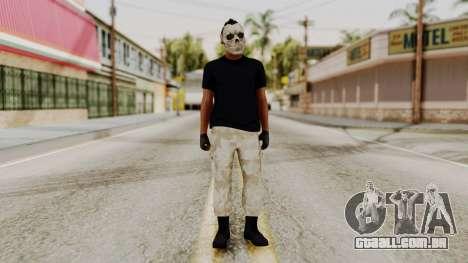 Skin DLC Ultimo Equipo En Pie para GTA San Andreas segunda tela