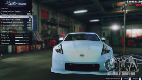GTA 5 Nissan 370z vista lateral direita