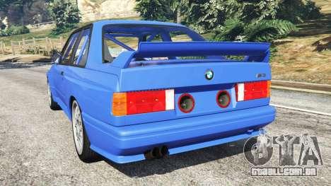 GTA 5 BMW M3 (E30) 1991 traseira vista lateral esquerda