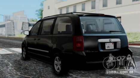 Dodge Grand Caravan 2010 para GTA San Andreas esquerda vista
