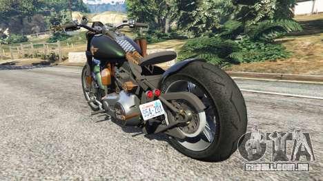 GTA 5 Harley-Davidson Fat Boy Lo Racing Bobber v1.1 traseira vista lateral esquerda