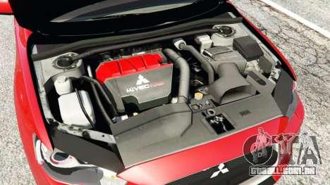 GTA 5 Mitsubishi Lancer Evolution X traseira direita vista lateral