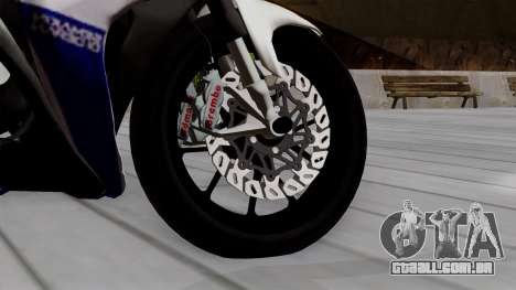 Yamaha YZF R-25 GP Edition 2014 para GTA San Andreas traseira esquerda vista
