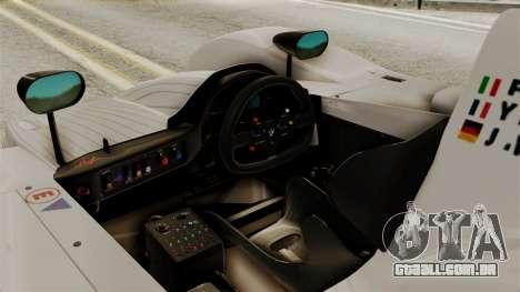 BMW V12 LMR 1999 Stock para GTA San Andreas vista direita