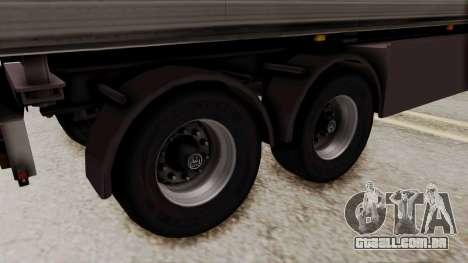 Cooliner Trailer from ETS 2 para GTA San Andreas traseira esquerda vista