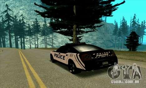 Federal Police Dodge Charger SRT8 para GTA San Andreas traseira esquerda vista