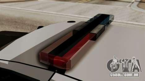 Ford Crown Victoria LP v2 LSPD para GTA San Andreas traseira esquerda vista