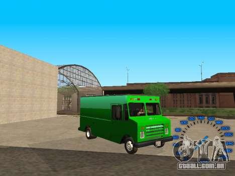 Boxville Sprite para GTA San Andreas vista traseira