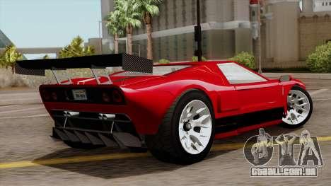 Vapid Bullet GT-GT3 para GTA San Andreas esquerda vista