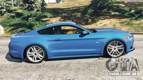 GTA 5 Ford Mustang GT 2015 vista lateral esquerda