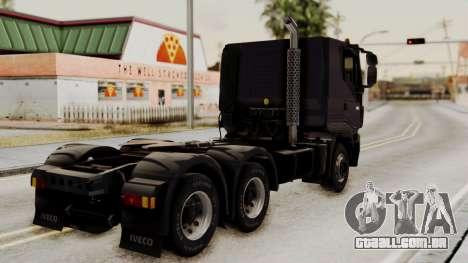 Volvo Truck from ETS 2 para GTA San Andreas esquerda vista