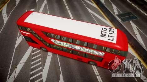 Wrightbus New Routemaster Metroline para GTA 4 vista direita