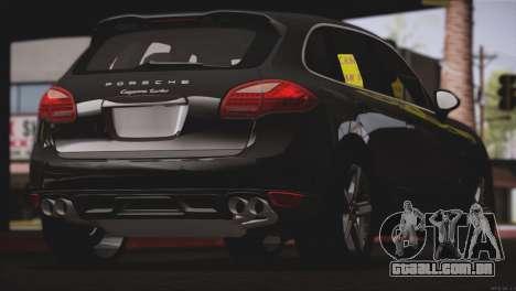Porsche Cayenne Turbo 2012 para GTA San Andreas vista traseira