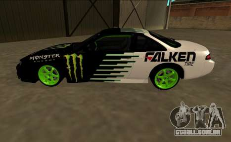 Nissan 200SX Drift Monster Energy Falken para GTA San Andreas esquerda vista