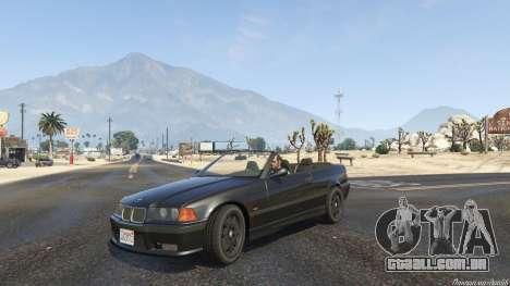 GTA 5 BMW M3 E36 Cabriolet 1997 vista lateral direita