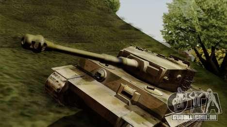 Panzerkampfwagen VI Ausf. E Tiger para GTA San Andreas vista direita
