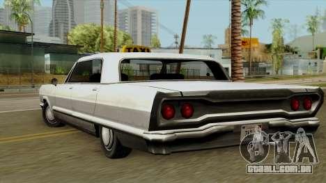 Taxi-Savanna para GTA San Andreas esquerda vista