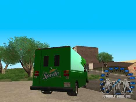 Boxville Sprite para GTA San Andreas traseira esquerda vista
