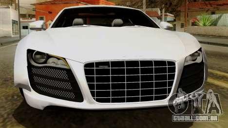 Audi R8 v1.0 Edition Liberty Walk para GTA San Andreas vista inferior