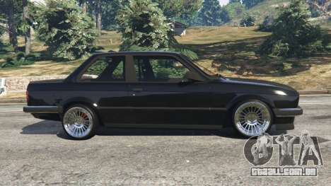 GTA 5 BMW E30 1983 M-Tech 1 [Beta] vista lateral esquerda