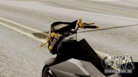 Sonic 150R Custom para GTA San Andreas vista direita