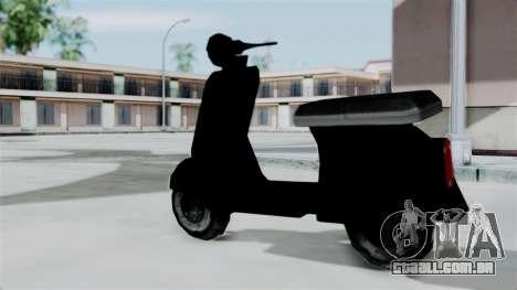 Scooter from Bully para GTA San Andreas esquerda vista
