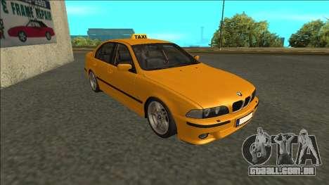 1999 BMW 530d E39 Taxi para GTA San Andreas esquerda vista