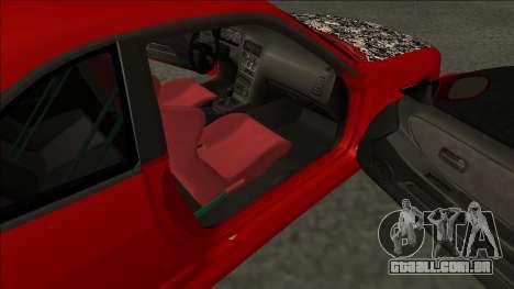 Nissan Skyline R33 Fairlady para GTA San Andreas traseira esquerda vista