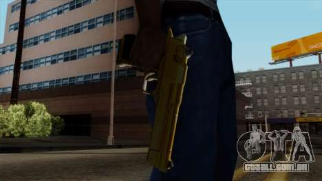 Golden Desert Eagle para GTA San Andreas terceira tela