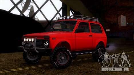 VAZ 2121 Niva Offroad para GTA San Andreas vista interior