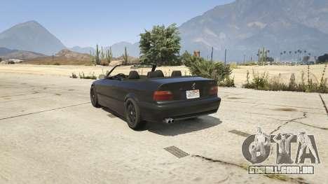 GTA 5 BMW M3 E36 Cabriolet 1997 traseira vista lateral esquerda