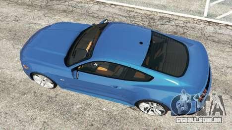 GTA 5 Ford Mustang GT 2015 voltar vista
