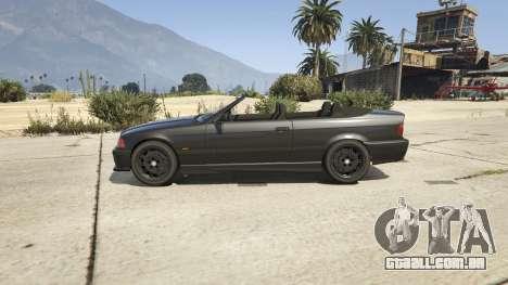 GTA 5 BMW M3 E36 Cabriolet 1997 vista lateral esquerda