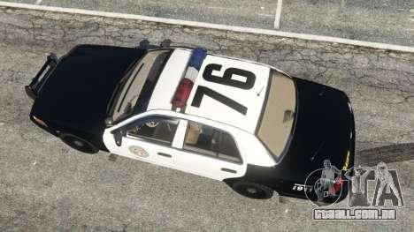 Ford Crown Victoria 1999 Police v1.0 para GTA 5
