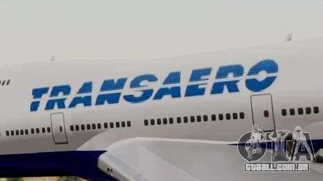 Boeing 747 TransAero para GTA San Andreas vista traseira