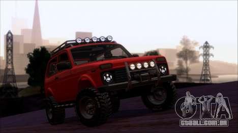 VAZ 2121 Niva Offroad para GTA San Andreas vista superior