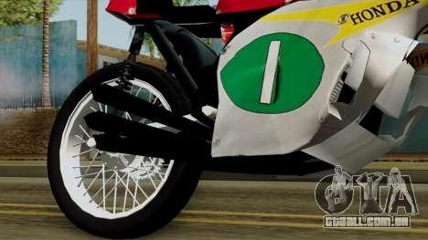 Honda RC166 v2.0 World GP 250 CC para GTA San Andreas vista direita
