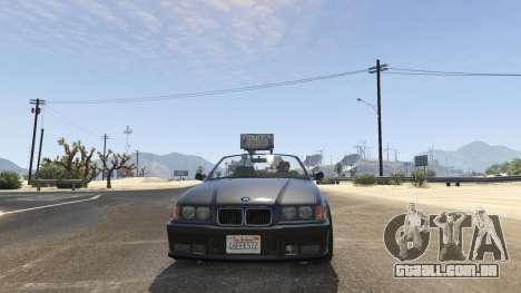 GTA 5 BMW M3 E36 Cabriolet 1997 traseira direita vista lateral