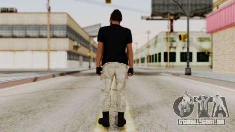 Skin DLC Ultimo Equipo En Pie para GTA San Andreas terceira tela