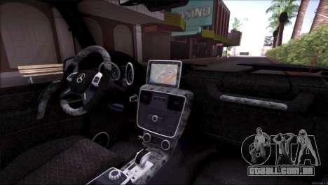 Mercedes Benz G65 AMG 2015 Topcar Tuning para GTA San Andreas interior