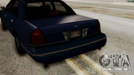 Ford Crown Victoria LP v2 Civil para GTA San Andreas vista direita