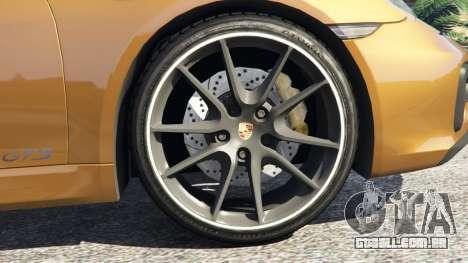 GTA 5 Porsche Boxster GTS traseira direita vista lateral