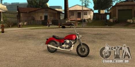 Deamon SA Style para GTA San Andreas traseira esquerda vista