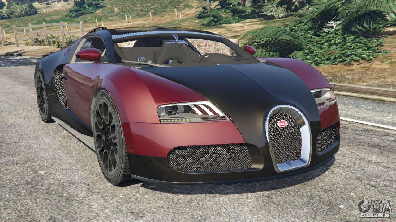 bugatti veyron grand sport v4 1 para gta 5. Black Bedroom Furniture Sets. Home Design Ideas